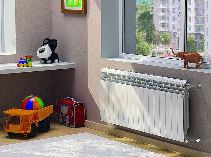 Биметаллические радиаторы в интерьере фото