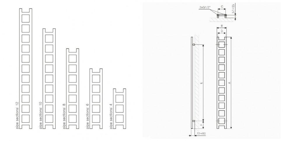 Полотенцесушители водяные схема подключения