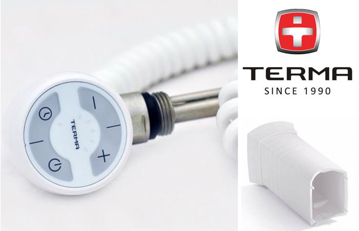 Terma MOA белый Электро ТЭН для электрического полотенцесушителя фото