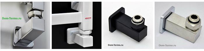Комплекты уголков квадрат GROTA (цвет хром, белый, черный, матовая нержавейка)