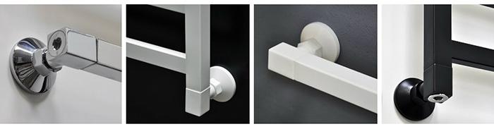 Комплекты уголков квадрат эконом (цвет хром, белый, черный)