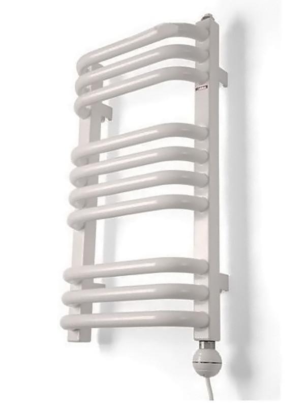 Полотенцесушитель электрический Terma Alex ALEX + Reg 2 50x54 белый, подключение правое интерьера ванных комнат фото